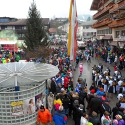 The Carnival in the centre of Fieberbrunn