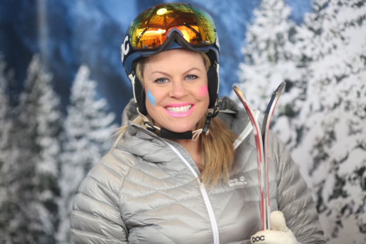 Chemmy Alcott recommends sunscreen and goggles when skiing