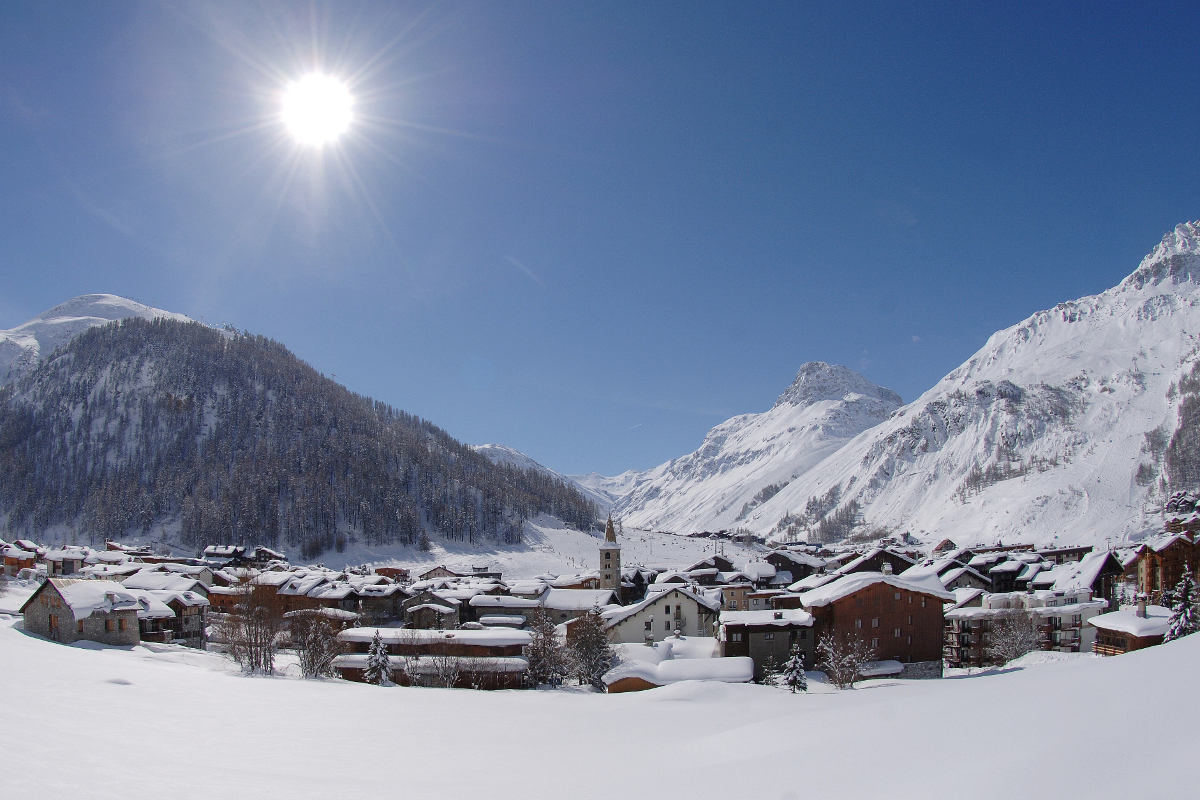 Val d'Isere; one of the first ski resorts of the season to open