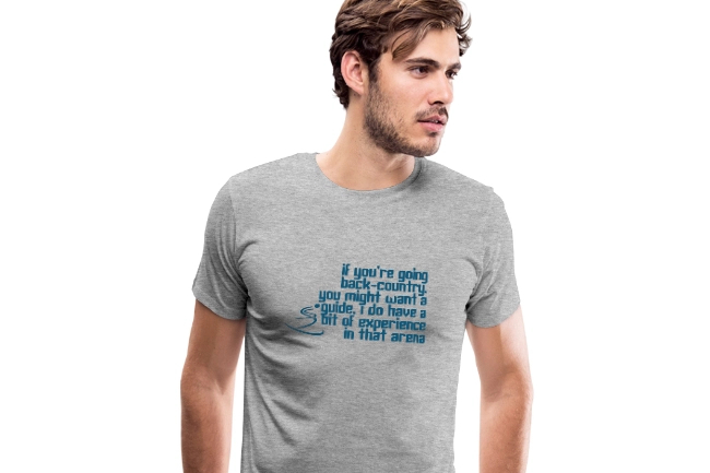 Oscars 2019 Ski T-shirt; Back-Country Guide