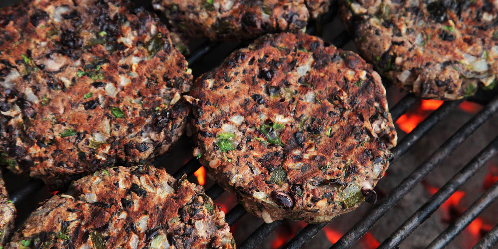 Cashew Nut Burger are great when you have an unexpected vegetarian