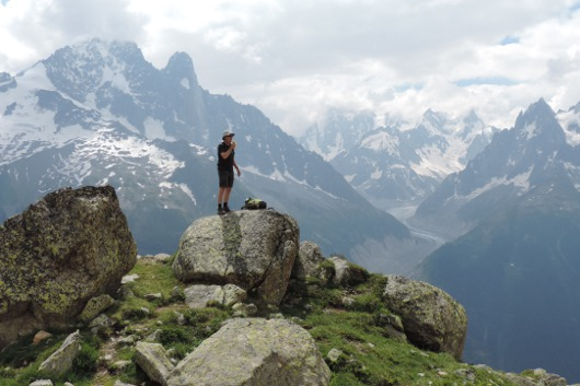 Chamonix in the Summer, still has snow