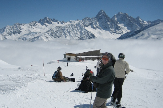 Skiing Chamonix in the Winter. Great for inversions