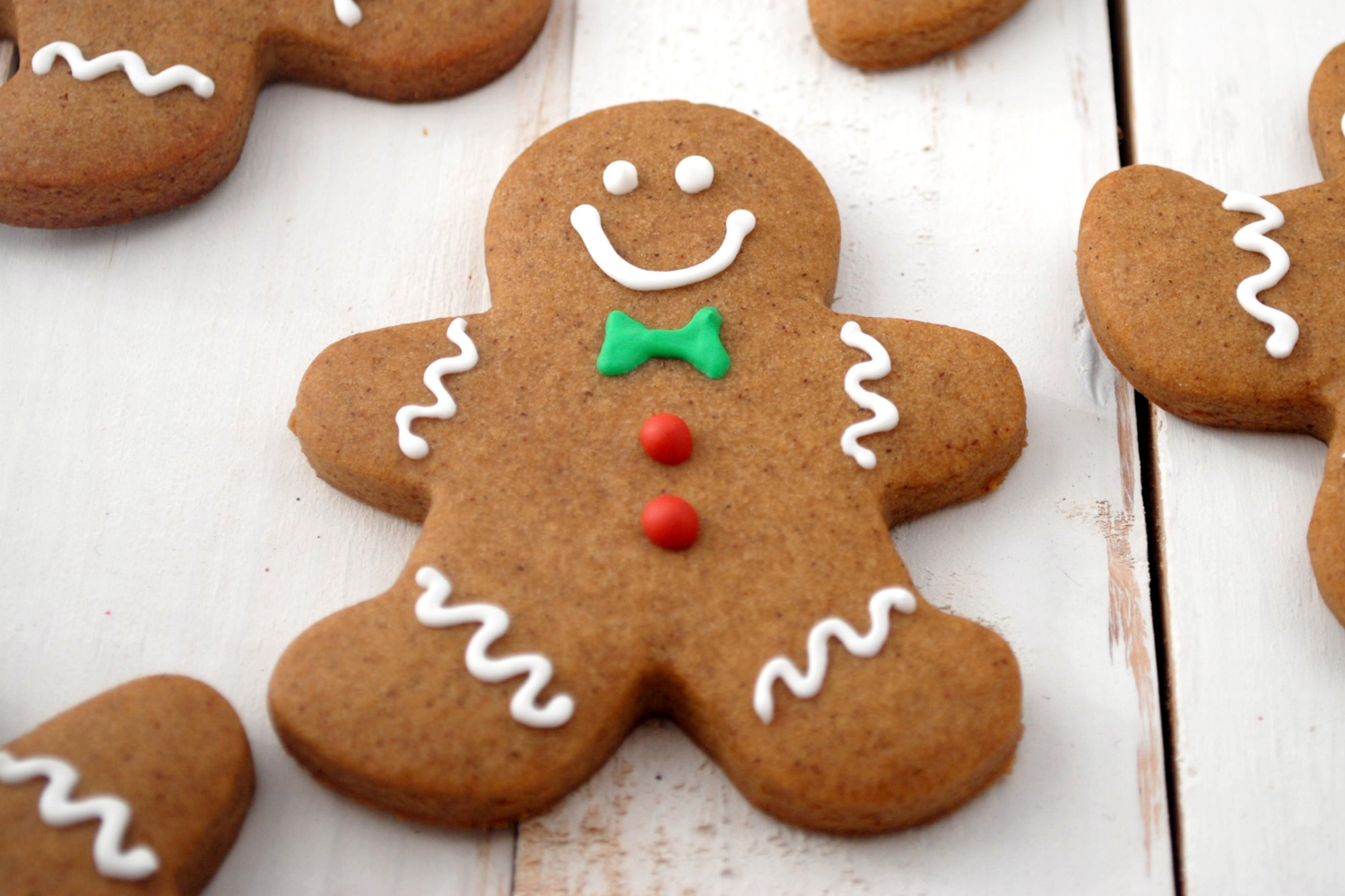 Piparkakku (Gingerbread Cookies) in shape of gingerbread man