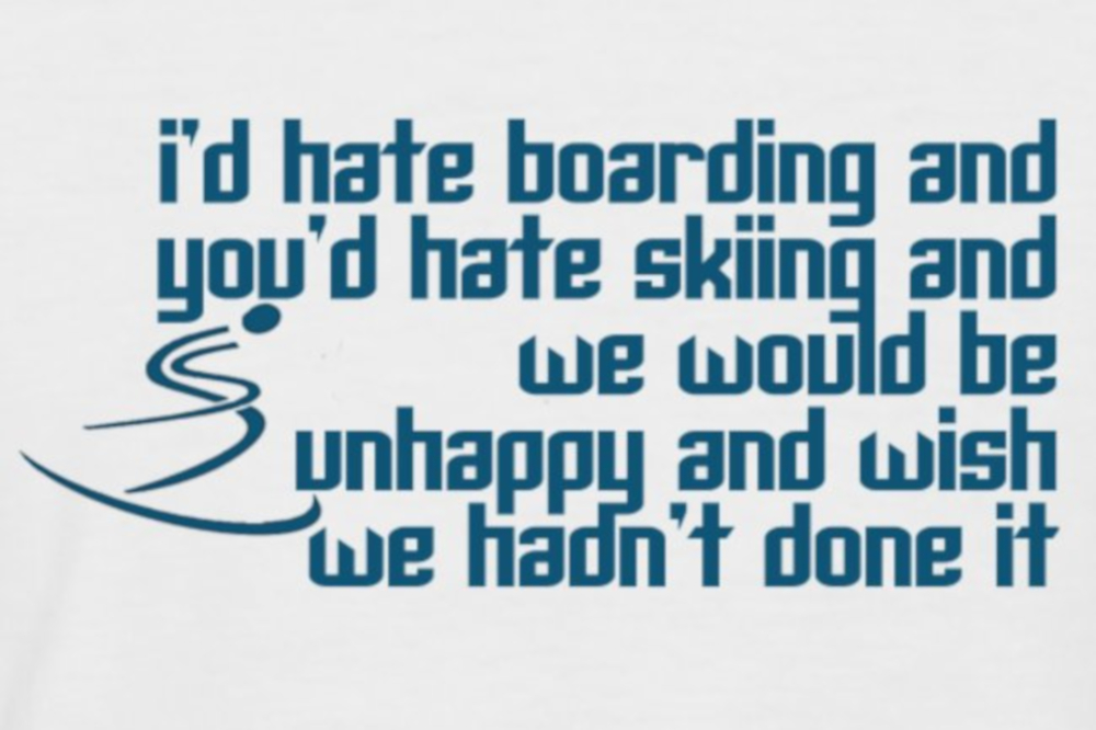 Hate skiing ski T-shirt is inspired by a Little Women movie quote