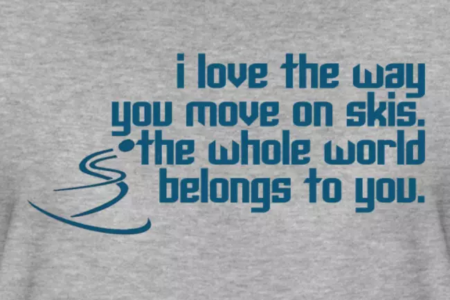 Oscars 2019 Ski T-shirt quote; Move on Skis