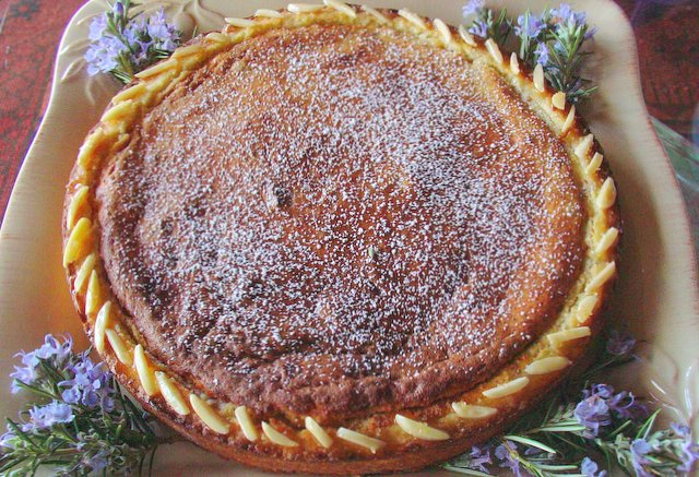 Osterfladen Tart, a traditional Easter tart from Italy