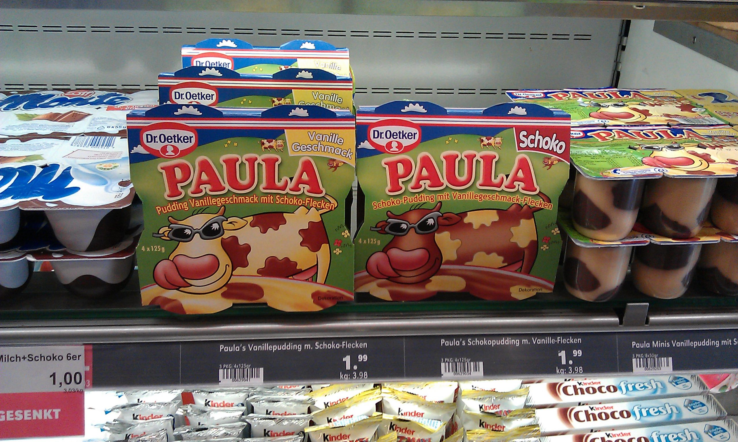 Paula as a yoghurt, always a bit cheesy!