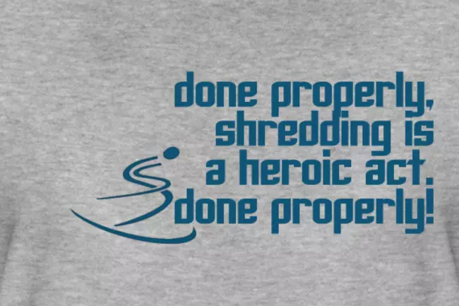 Oscars 2019 Ski T-shirt quote; Done Properly