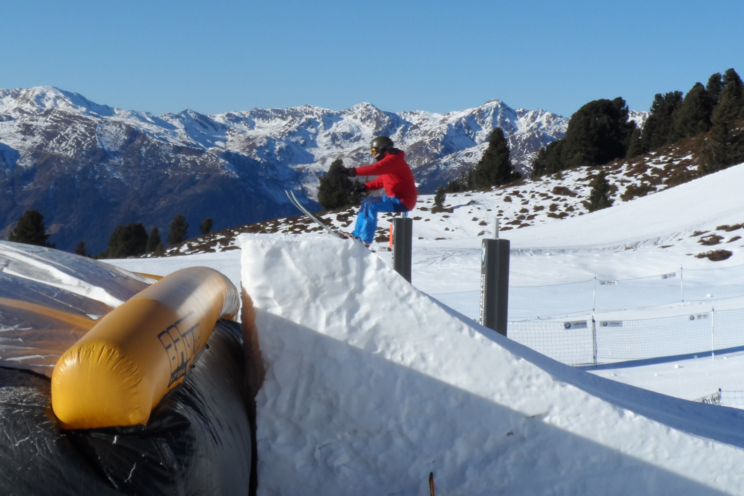 Andrew taking the leap - ski jump in the Zillertal