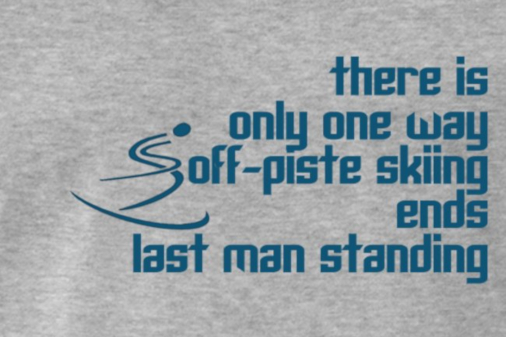 Skiing ends T-shirt is inspired by a 1917 movie quote