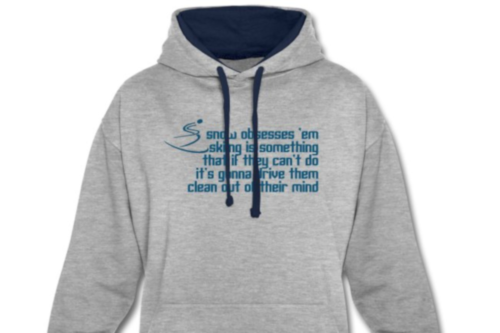 Snow obsession ski T-shirt is inspired by a Le Mans '66 movie quote
