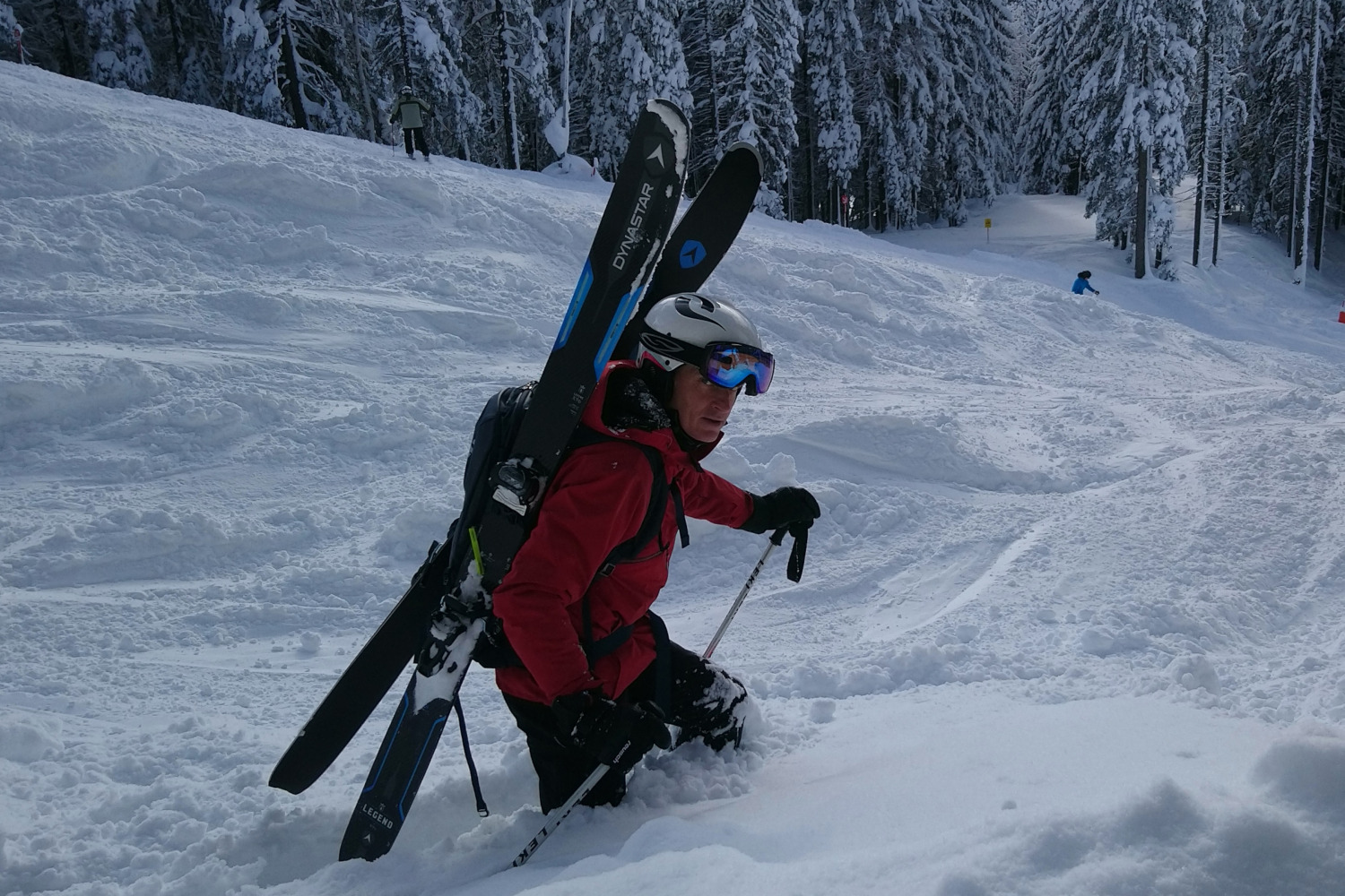 Andrew wearing Sweet Protection Trooper Ski Helmet with MIPS